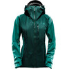 The North Face W's Summit Series L5 Shell Jacket TNF Black/Vaporous Green Jacquard